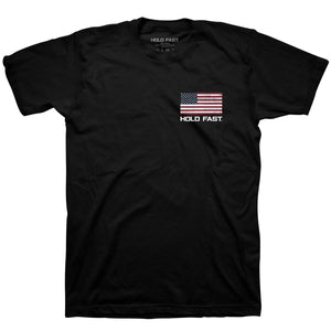 Hold Fast to Faith, Family, and Freedom, Adult T-Shirt, Black