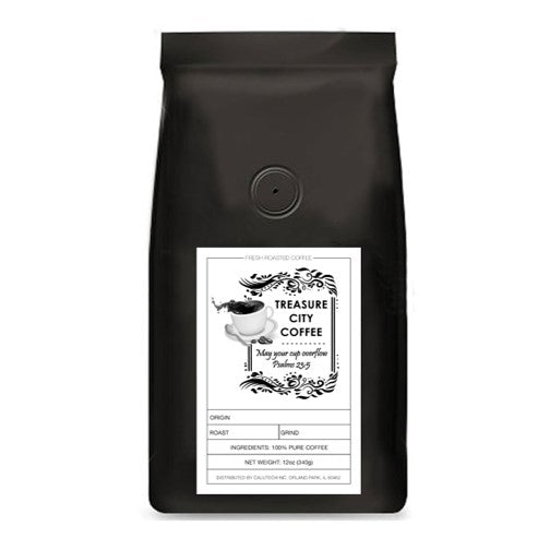 Italian Roast Coffee, Extra Dark Roast, No Acidity, Caffeinated