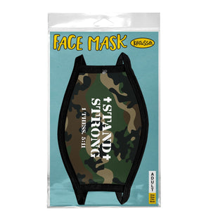 Stand Strong, Face Mask, One Size Fits Most Adults, Breathable, Camo