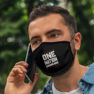 One Nation Under God, Face Mask, One Size Fits Most Adults, Breathable, Black
