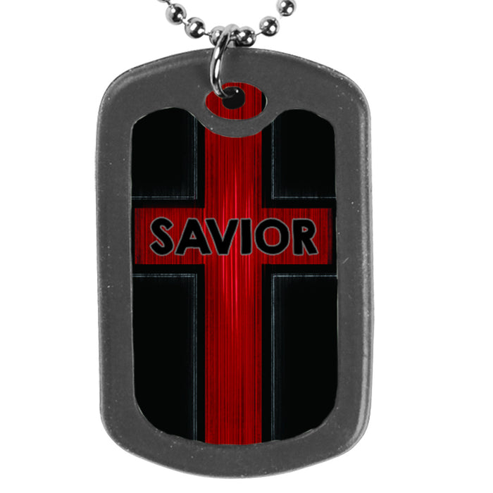 Savior, Dog Tag Necklace
