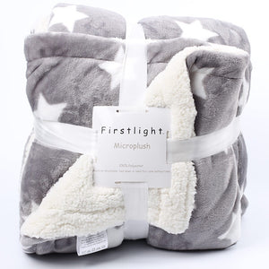 Warm Microplush Sherpa Fleece Throw Blanket