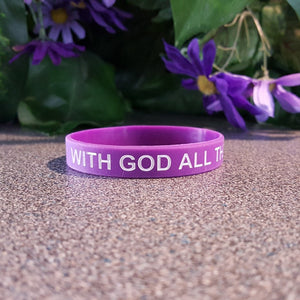 Faith Wristband - With God All Things Are Possible