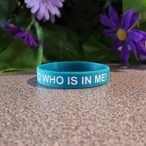 Faith Wristband - Greater is God Who Is In Me