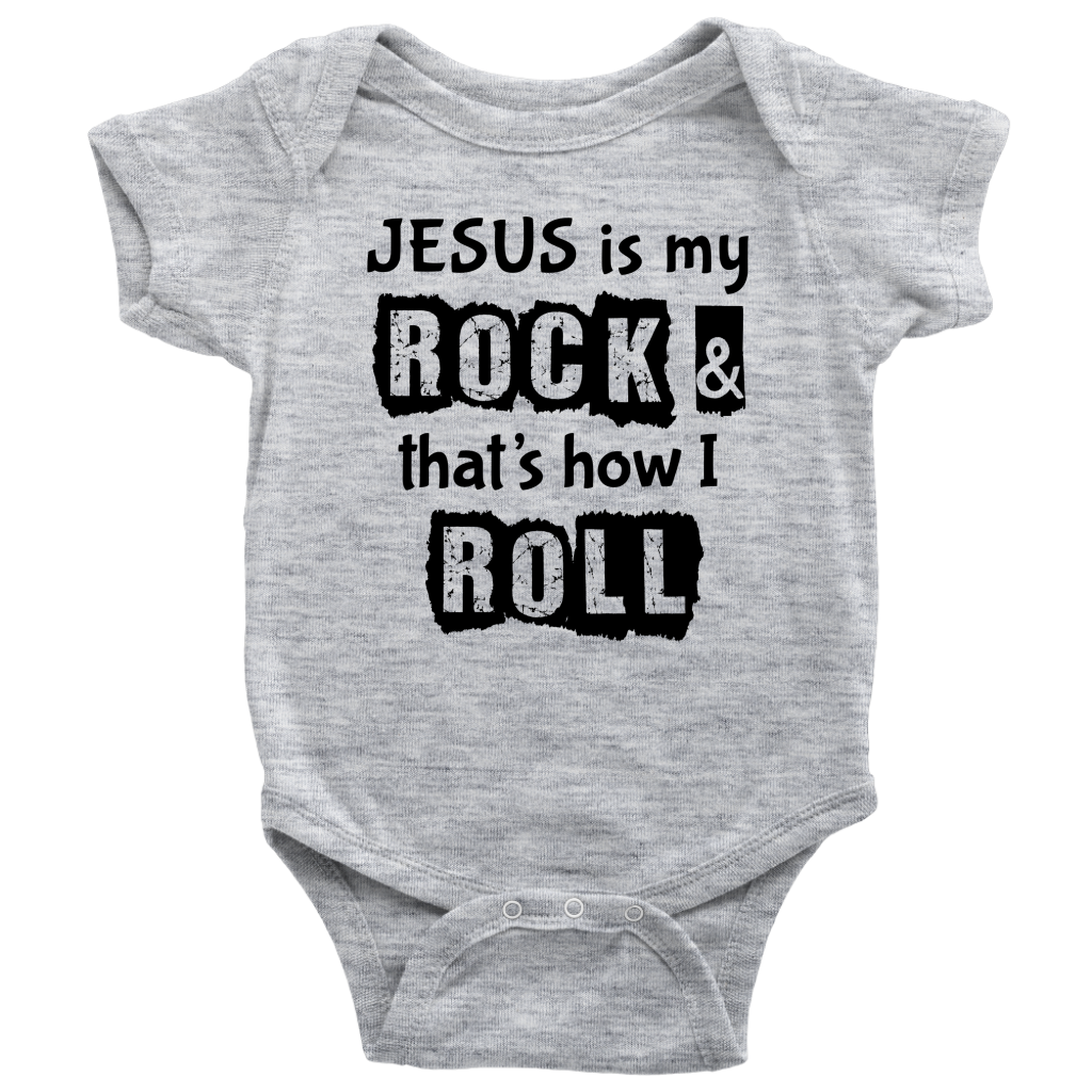 Jesus is My Rock, Front Print Infant Body Suit - 7 Colors