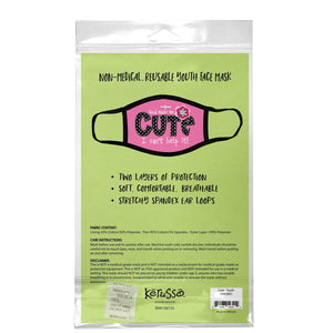 God Made Me Cute, Face Mask, Fits Most Kids Ages 3-10, Breathable, Pink