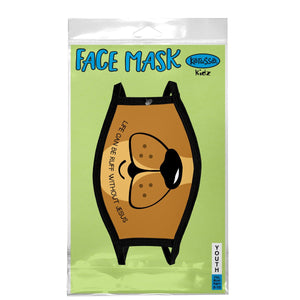 Life Can Be Ruff, Dog Face Mask, Fits Most Kids Ages 3-10, Breathable, Brown