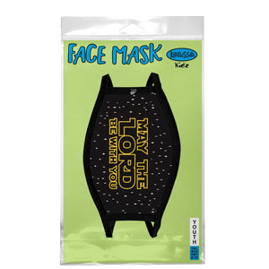 May the Lord Be With You, Face Mask, Fits Most Kids Ages 3-10, Black