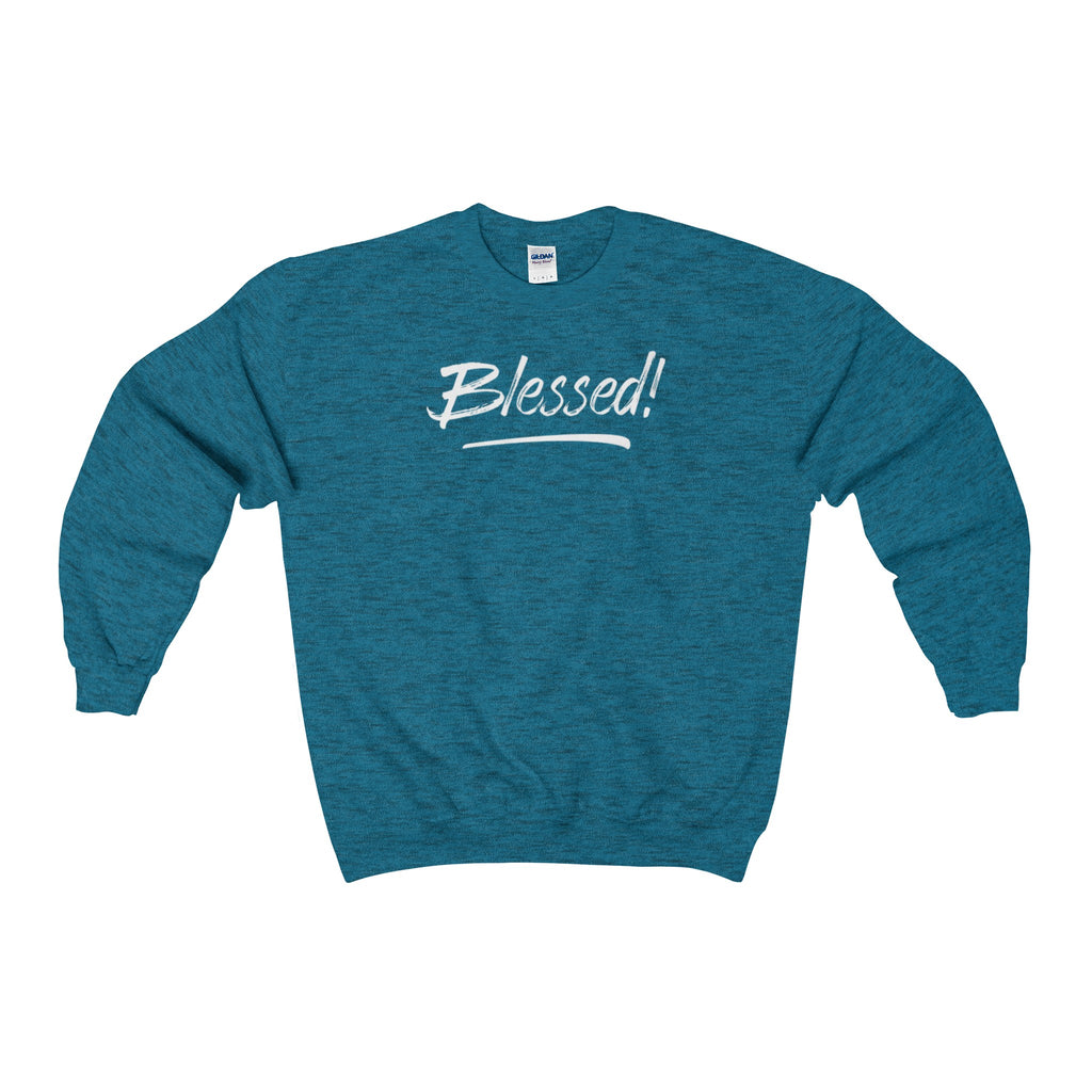 Heavy Blend Adult Crewneck Sweatshirt - Blessed! - 12 Colors
