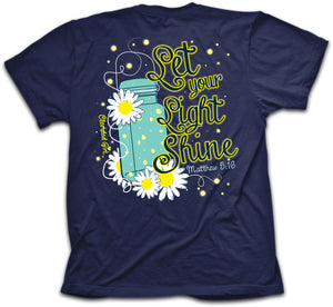 Lightning Bug, Let Your Light Shine, Front/Back Print, Ladies T-Shirt
