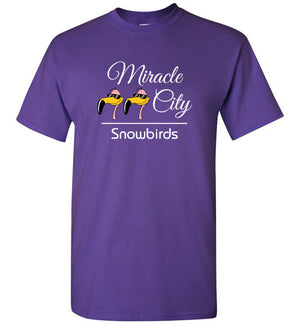 Snowbirds Style 1 (Church Name), Front Print T-Shirt, We'll Add Your Info, 12 Colors