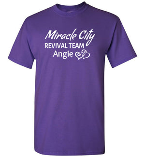 Miracle City Revival Team with Your Name, Front Print T-Shirt - 12 Colors