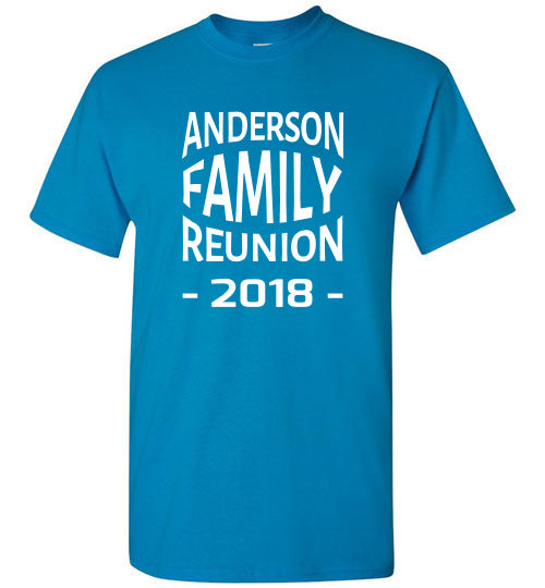 Family Reunion Style 4, Front Print T-Shirt, We'll Add Your Name & Year, 12 Colors