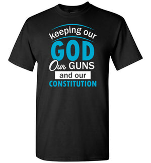 Keeping our God, Style 2, Adult T-Shirt, 10 Colors