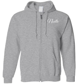 Tipton Ministry Logo on Back, Personalized Name on Front (Noelle), Zip-Up Hoodie, 12 Colors