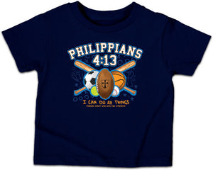 All Things Sports Kids T-Shirt, Toddlers and Kids Sizes