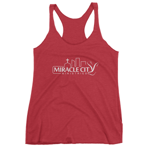 Miracle City Logo, Front Print Women's Tank Top - 13 Colors