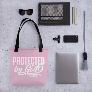 Protected by God, Psalms 91, Tote Bag, 12 Colors