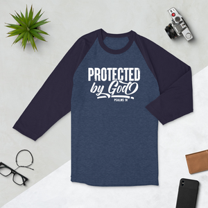 Protected by God, Psalms 91, 3/4 sleeve Raglan Shirt