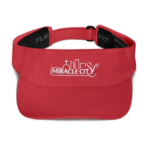 Miracle City Logo, Moisture-Wicking Embroidered Visor, 4 Colors