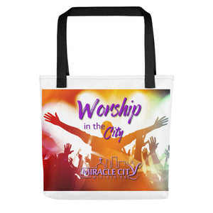 "Worship in the City Tote Bag, Miracle City Logo, 15"" x 15"""