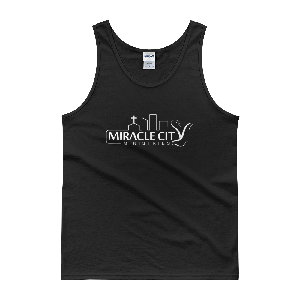 Miracle City Logo, Front Print Men's Tank Top - 8 Colors