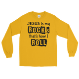 Jesus is My Rock, Front Print Long Sleeve T-Shirt - 8 Colors