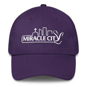 Miracle City Logo, Embroidered Cotton Cap, 7 Colors