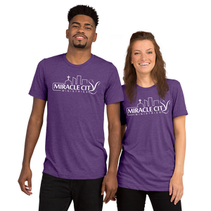 Miracles City Logo, Knows Your Name, Front & Back Print, Short-Sleeve Unisex T-Shirt, 12 Colors