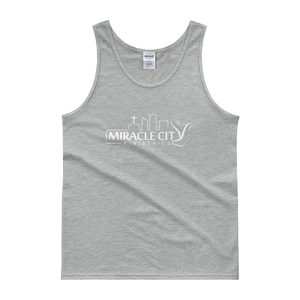 Miracle City Logo, Front Print Men's Tank Top, 8 Colors