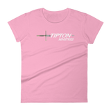 Women's Fashion Fit T-Shirt - Front & Back Print - Tipton Ministries Logo- 16 Colors