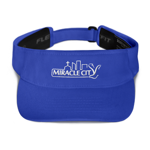 Miracle City Logo, Moisture-Wicking Embroidered Visor - 4 Colors