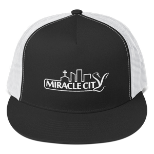 Miracle City Logo, Embroidered Trucker Snapback Cap - 3 Colors