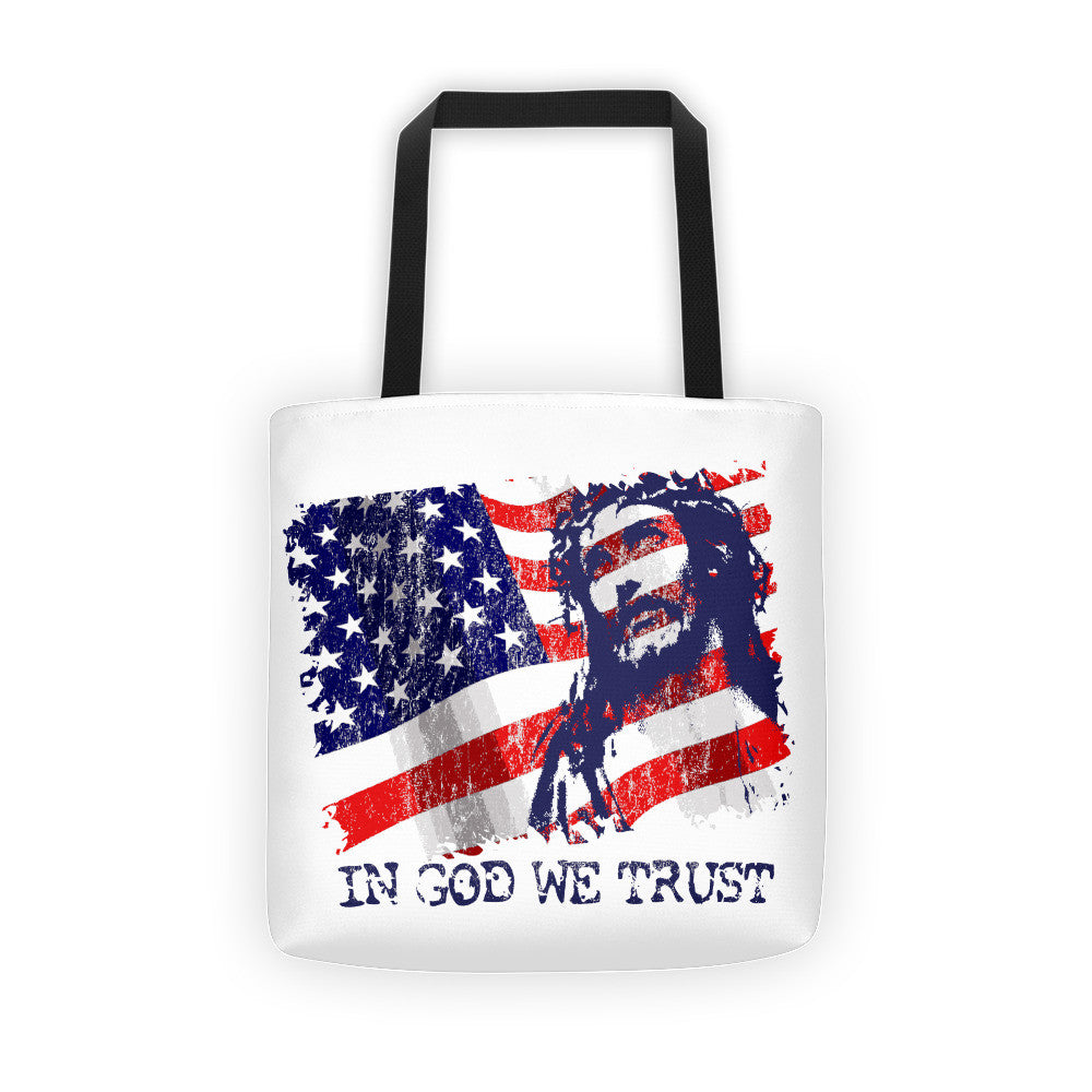 "In God We Trust, Tote Bag - 15"" x 15"""