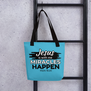 Miracles Happen Tote Bag, 8 Colors