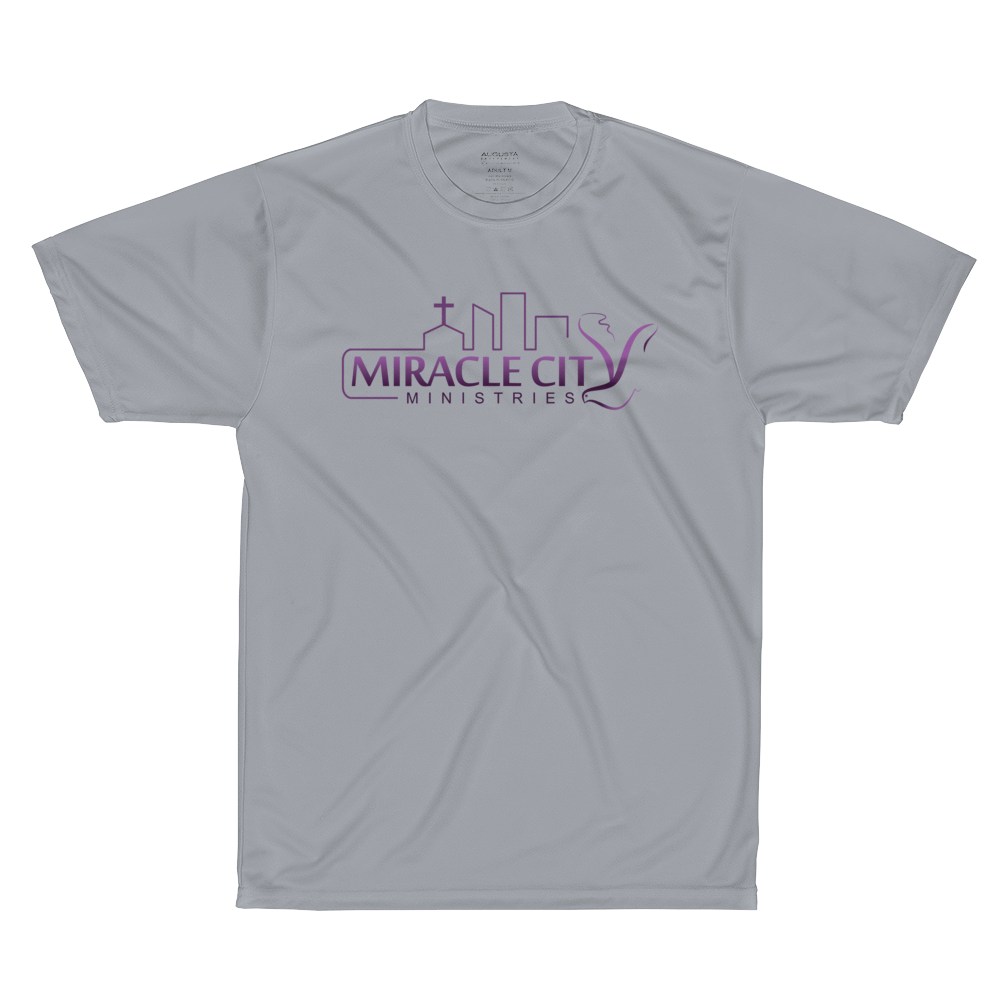 Miracle City Logo, Isaiah 40:31, Front/Back Print Augusta Sportswear Performance T-Shirt
