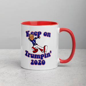 Keep on Trumpin' 2020, Mug with Color Inside, 4 Colors