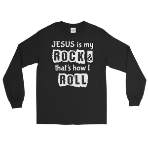 Jesus is My Rock, Front Print Long Sleeve T-Shirt - 10 Colors