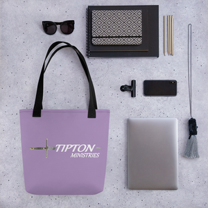 Tipton Ministry Tote Bag, Purple 2