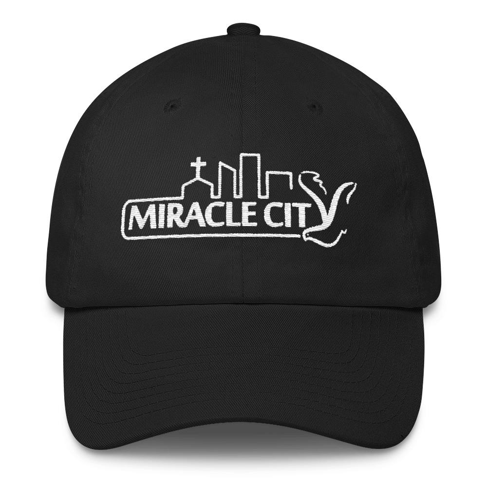 Miracle City Logo, Embroidered Cotton Cap - 10 Colors