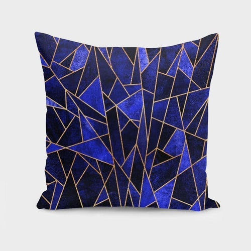 Shattered Sapphire  Pillow or Cover Only, 4 Sizes
