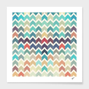 Watercolor Chevron Pattern II Pillow or Cover Only, 4 Sizes