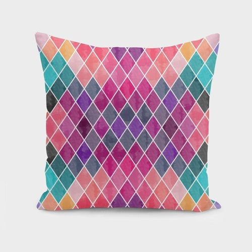 Geometric Patterns II, Watercolor Pillow or Cover Only, 4 Sizes