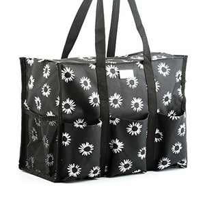 Pursetti Zip-Top Organizing Tote Bag, Many Styles, Medium or Large