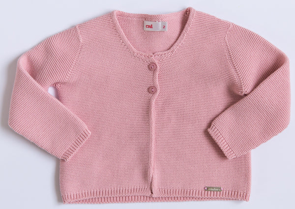 Pale Rose Knit Cardigan