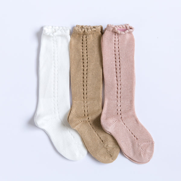 Side Crochet Knee Socks Bundle