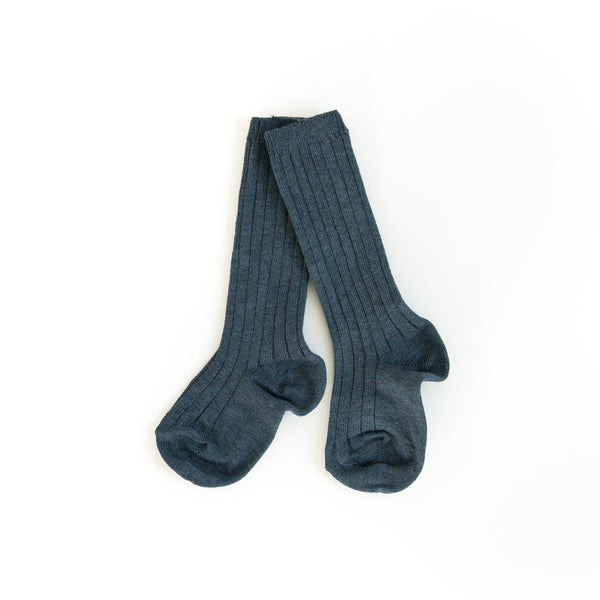 Navy Heather Knee Socks