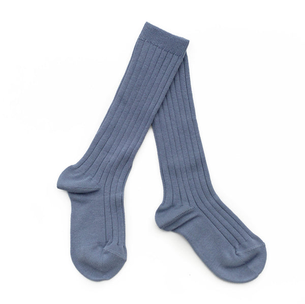 Dusty Blue Knee Socks