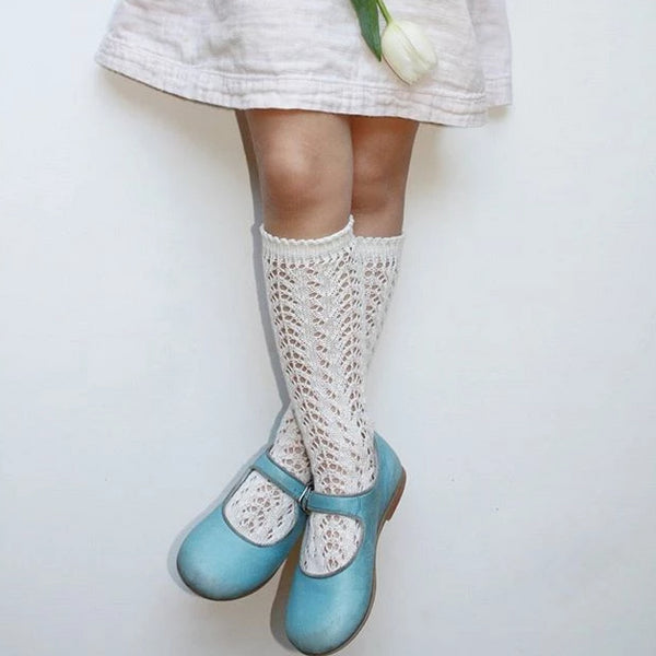 Ivory Crochet Knee Socks