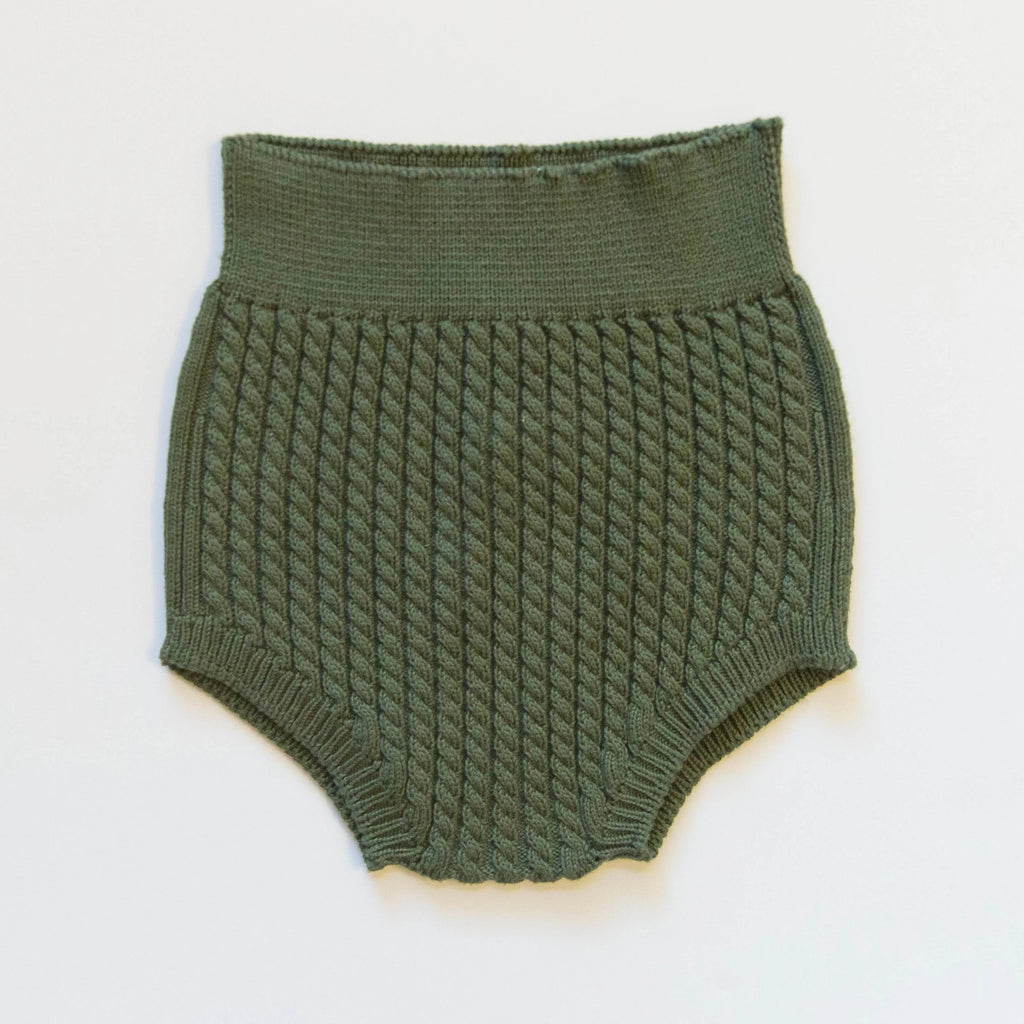 Evergreen Cable Knit Bloomers